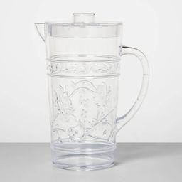 24oz Plastic Floral Embossed Beverage Pitcher - Opalhouse™   Target