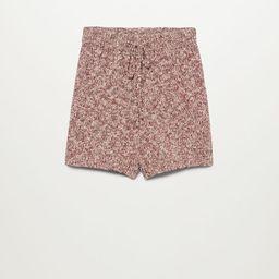 Flecked knitted shorts   MANGO (UK)