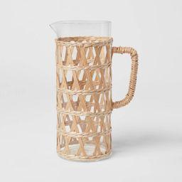 64oz Glass Natural Wrap Beverage Pitcher - Opalhouse™   Target