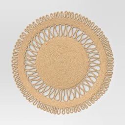 Jute Decorative Charger Brown - Threshold™   Target