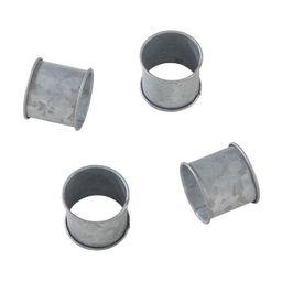 Silver Galvanized Design Industrial Style Metal Napkin Ring Set of 4 - Saro Lifestyle   Target