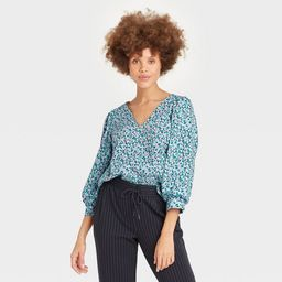 Women's 3/4 Sleeve Voile Top - A New Day™ | Target