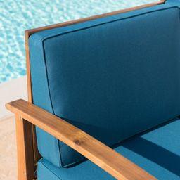 Theodore 4 Piece Teak Sofa Seating Group with Cushions | Wayfair North America