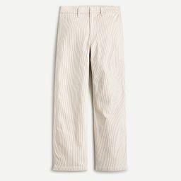 Slim wide-leg jean in khaki stripe | J.Crew US