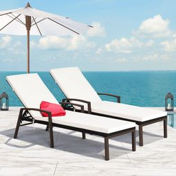 Aubrynn Sun Lounger Set with Cushions (Set of 2) | Wayfair North America