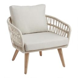 Antique White Woven Rope Nevis Outdoor Chair   World Market