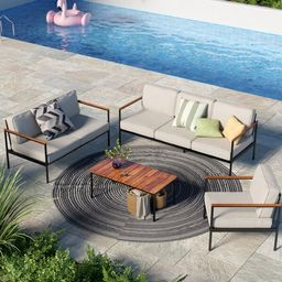 Savanah Deep Seating Group with Cushions   Wayfair North America