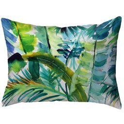 Saulsberry Jungle Greens No Cord Indoor/Outdoor Lumbar Pillow   Wayfair North America