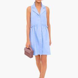 Oxford Blue Sleeveless Royal Shirt Dress | Tuckernuck (US)