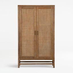 Blake Grey Wash 2-Door Cabinet + Reviews | Crate and Barrel | Crate & Barrel