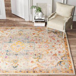 Oriental Saffron/Light Gray Area Rug | Wayfair North America
