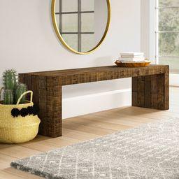 Gino Solid Wood Bench | Wayfair North America
