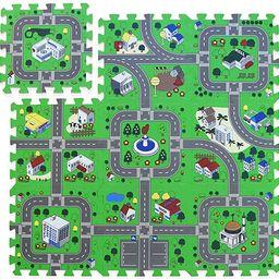 Foam Play Mat Road Toy Playroom Playmat Interlocking Floor Puzzle Road Mat Interactive Play Set (...   Amazon (US)