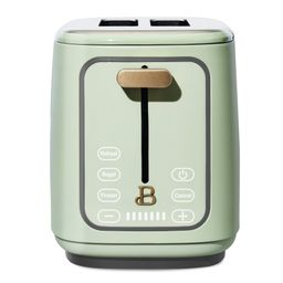 Beautiful 2 Slice Touchscreen Toaster, Sage Green by Drew Barrymore   Walmart (US)
