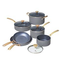 Beautiful 10 PC Cookware Set, Grey Smoke by Drew Barrymore   Walmart (US)