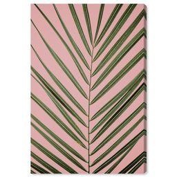"Wynwood Studio 'Palm Life' Floral and Botanical Wall Art Canvas Print - Green, Pink, 24"" x 36"" | Walmart (US)"