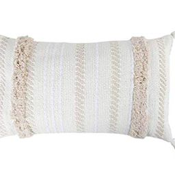 "Fennco Styles Handmade Tufted Woven Tassel Decorative Throw Pillow Cover & Insert 12"" W x 20"" L -... | Walmart (US)"