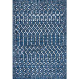 Davon Blue Moroccan Trellis Outdoor Rug, 5x8 | Kirkland's Home