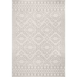 Cammie Gray Moroccan Geometric Outdoor Rug, 8x10 | Kirkland's Home