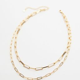 Janie Double Paperclip Chain Necklace | Evereve