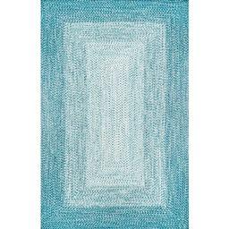 Julianna Braided Blue Indoor / Outdoor Use Area Rug | Wayfair North America