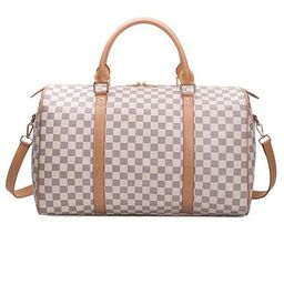 'Neo' Checked Canvas Travel Bag (2 Colors)   Goodnight Macaroon