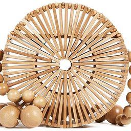 Women Bamboo Purse Handbag Tote Bag by Handmade Straw Natural Basket   Amazon (US)