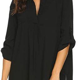 Ekouaer Women's Cover Up Shirt Swimsuit Beach Bikini Beachwear Bathing Suit S-3XL   Amazon (US)
