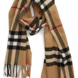 Giant Icon Check Cashmere Scarf   Nordstrom