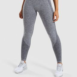 Gymshark Flex Leggings - Charcoal Marl/Dusky Teal   Gymshark (Global)