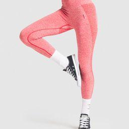 Gymshark Flex High Waisted Leggings - Red Marl/Claret   Gymshark (Global)