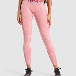 Gymshark Flex Low Rise Leggings - Red Marl/Light Grey   Gymshark (Global)
