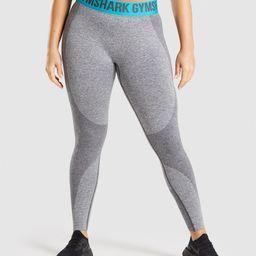 Gymshark Flex Leggings - Charcoal Marl/Teal   Gymshark (Global)