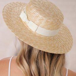 Barton Hat - Cream Ribbon | Salty Crush