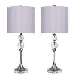 "Maines 27"" Crystal Table Lamp Set (Set of 2)   Wayfair North America"