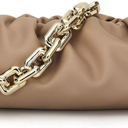 CATMICOO Chunk Chain Dumpling Bag Cloud Clutch Purse for Women with Ruched Detail | Amazon (US)
