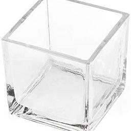 "CYS EXCEL Glass Cube Flower Vase (6""x6""x6"")   Multiple Size Choices Square Wedding Centerpieces  ...   Amazon (US)"