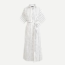 Relaxed-fit short-sleeve cotton poplin shirtdress in stripe   J.Crew US