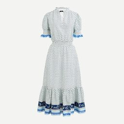 Smocked ruffle dress in cotton voile | J.Crew US