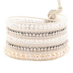 Freshwater Pearls with Crystals and Silver Accent on White | Victoria Emerson