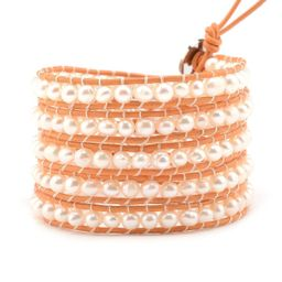 Freshwater Pearls on Sunrise Orange | Victoria Emerson
