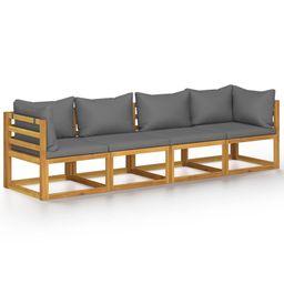 OWSOO 4-Seater Garden Sofa with Cushion Solid Acacia Wood | Walmart (US)