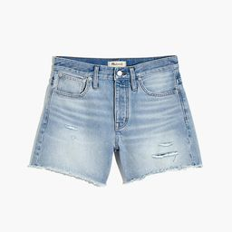 Relaxed Mid-Length Denim Shorts in Selton Wash: Ripped Edition | Madewell
