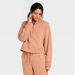 Women's All Day Fleece Quarter Zip Sweatshirt  - A New Day™ | Target