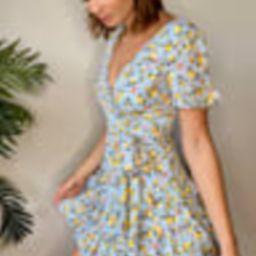 Feeling Butterflies Light Blue Floral Tiered Ruffle Mini Dress   Lulus (US)
