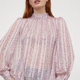Wide-cut Blouse   H&M (US)
