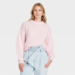 Women's Crewneck Textured Pullover Sweater - A New Day™   Target