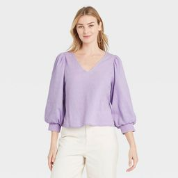 Women's 3/4 Sleeve Voile Top - A New Day™   Target