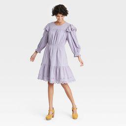 Women's Ruffle Long Sleeve Ruffle Dress - Universal Thread™   Target