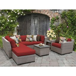 Merlyn 8 Piece Rattan Sectional Seating Group with Cushions | Wayfair North America